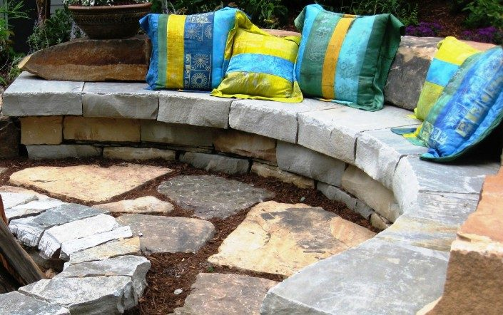 stone bench ideas