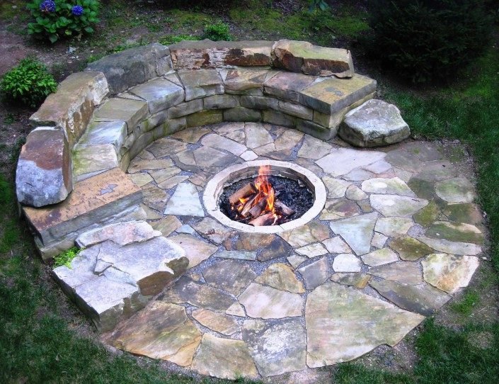 masonry fire pits build