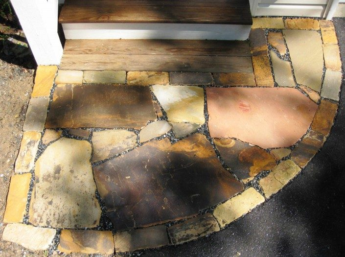 laying a stone patio