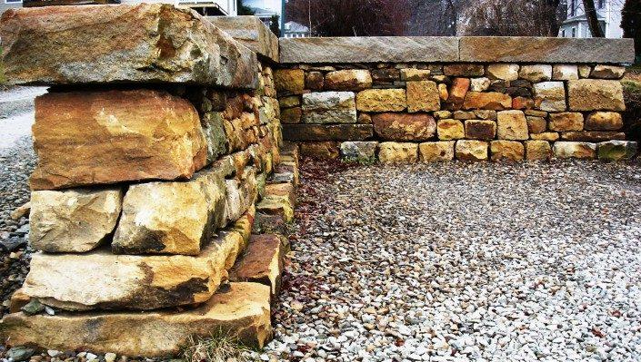 stone wall construction