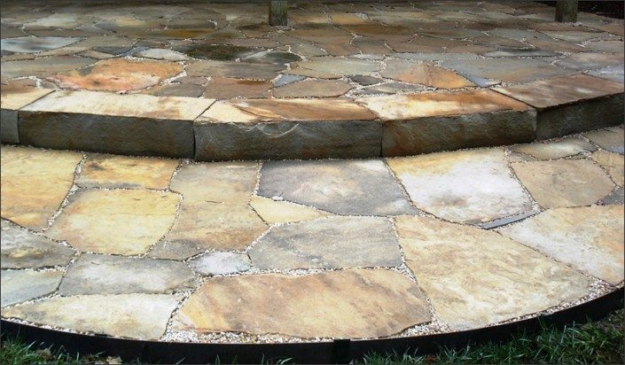 how to make a stone patio