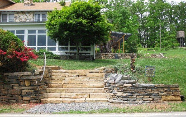 building stone steps