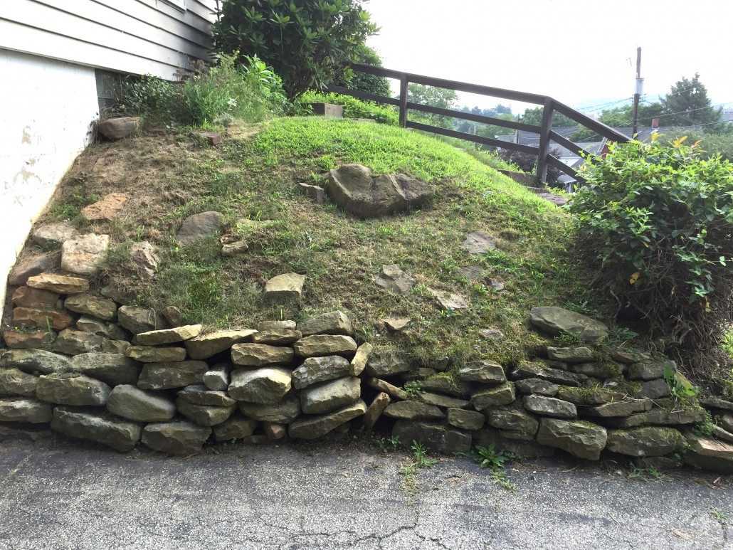 Restoring a dry stone wall