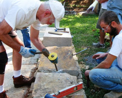 Dry stone walling courses & workshops in Asheville, NC