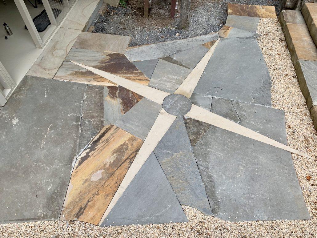 Sandstone Patio with Compass Rose, North Carolina 2019