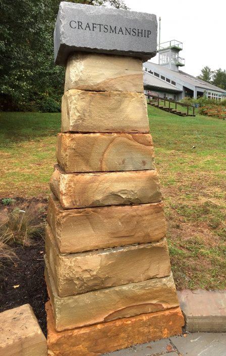 Sandstone and Granite Column, North Carolina 2017
