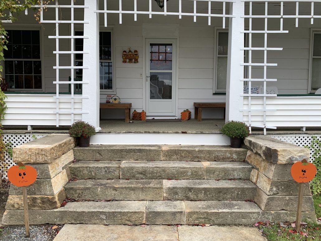 Sandstone Steps, Fences, and Landing, Pennsylvania 2019