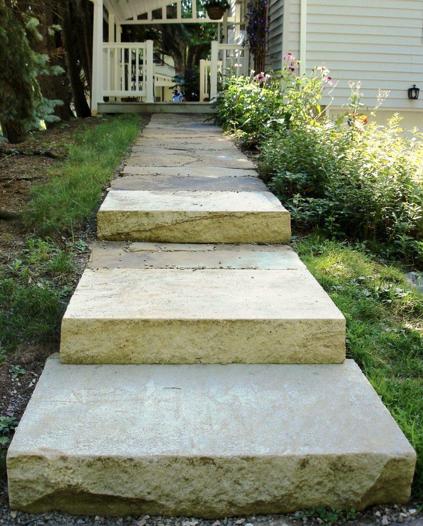Sandstone Walkway with Steps, Pennsylvania, 2007