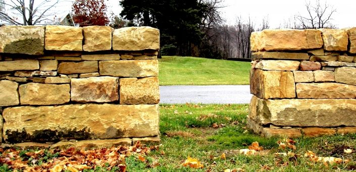 Sandstone Fence with Passageway, Pennsylvania 2006
