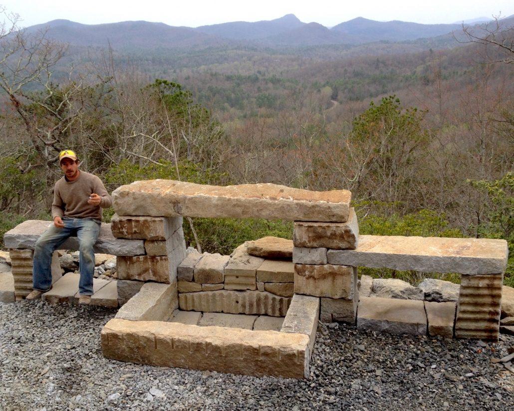 Granite Fire Feature with Matt Smith, North Carolina 2015