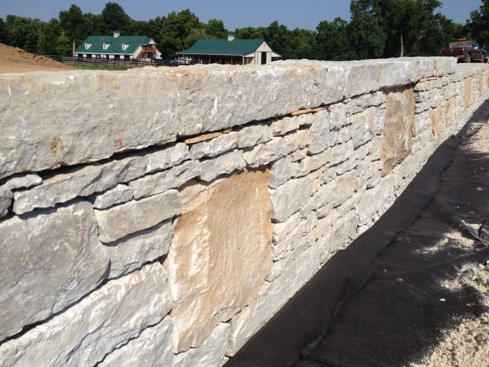 Limestone and Sandstone Fence/Horsejump, Kentucky 2014