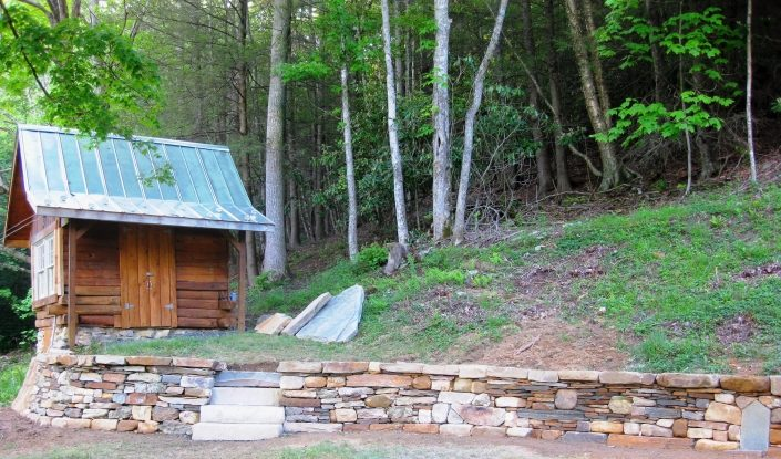 Quartz, Granite, and Sandstone Retaining Wall with Steps, North Carolina 2012
