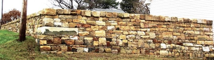 Sandstone Fence and Retaining Wall, Pennsylvania 2006