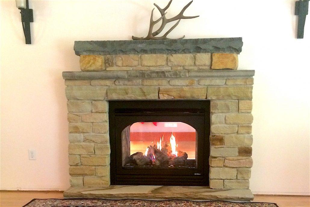 Sandstone Fireplace, North Carolina, 2015