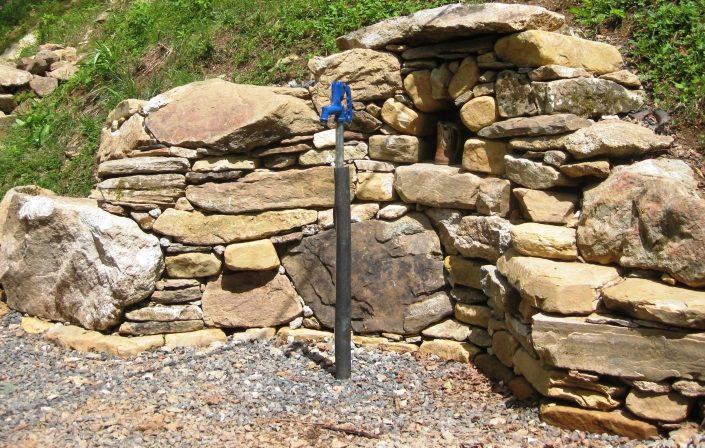 Sandstone, Granite, and Quartz Spring Shrine, North Carolina 2011