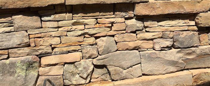 Sandstone Retaining Wall Detail, North Carolina 2016