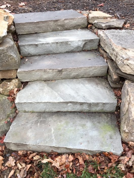 Sandstone Steps with Boulder Edging, North Carolina 2016