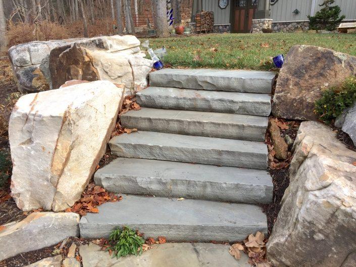 Sandstone Steps with Boulder Edging, North Carolina 2017