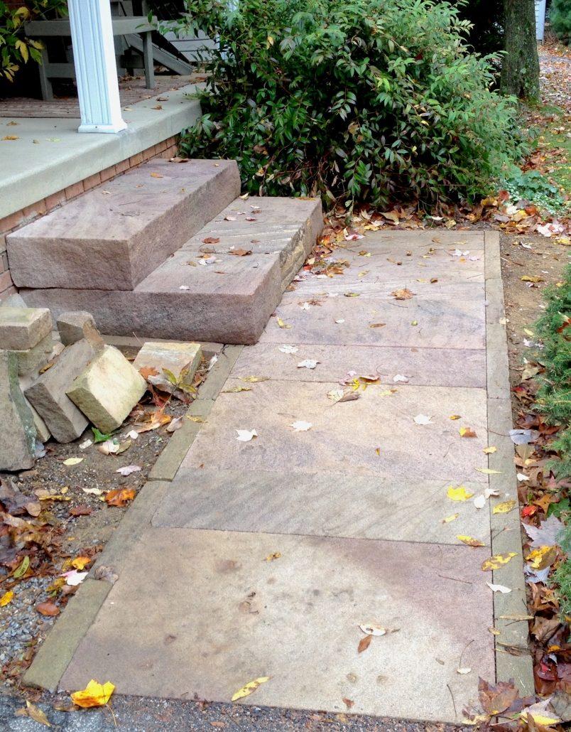 Sandstone Walkway and Steps, Pennsylvania 2014