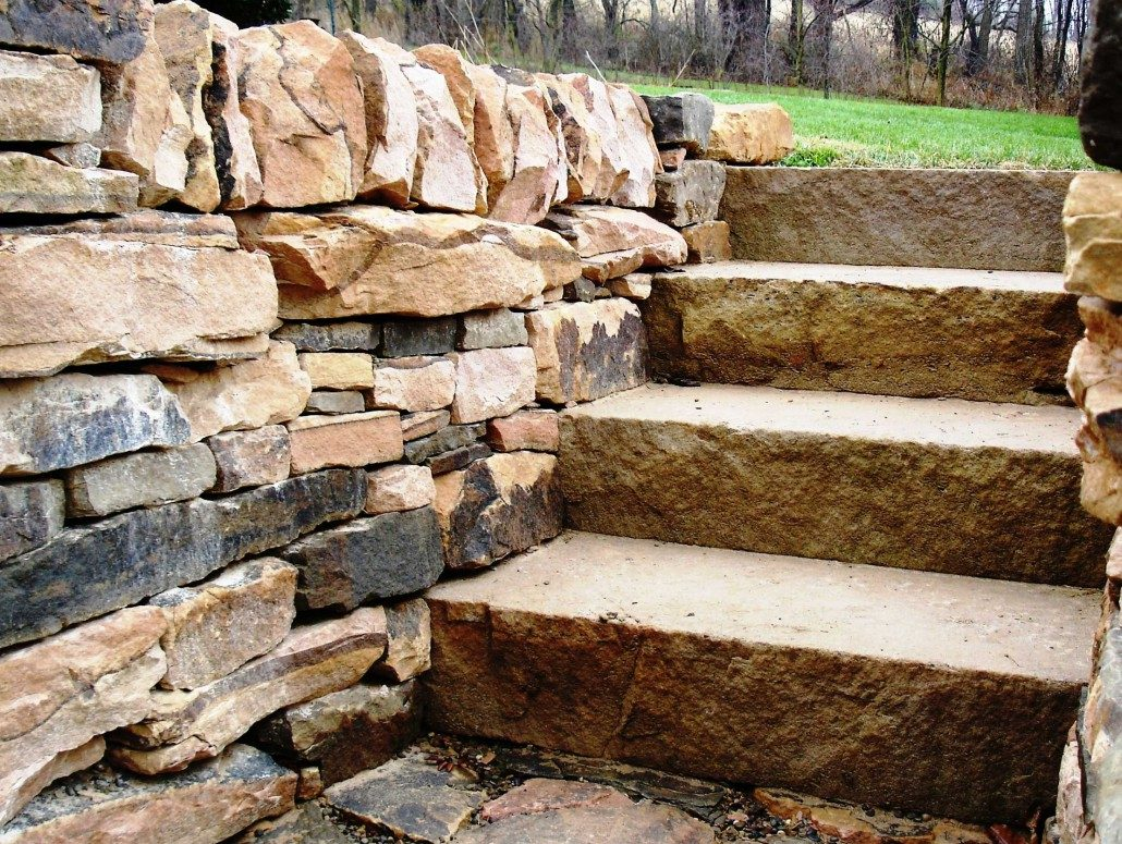 Sandstone Steps and Retaining Walls, Pennsylvania 2004