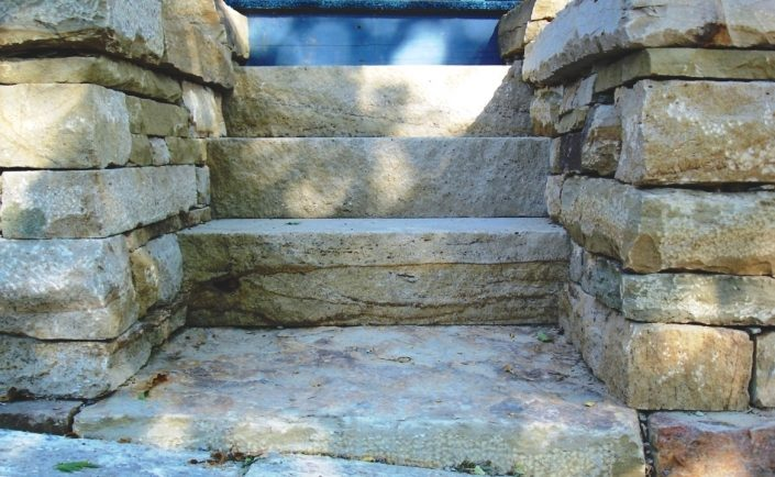 Sandstone Steps with Landing and Retaining Walls, Pennsylvania, 2007
