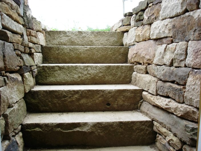 Sandstone Steps with Retaining Walls, 2007