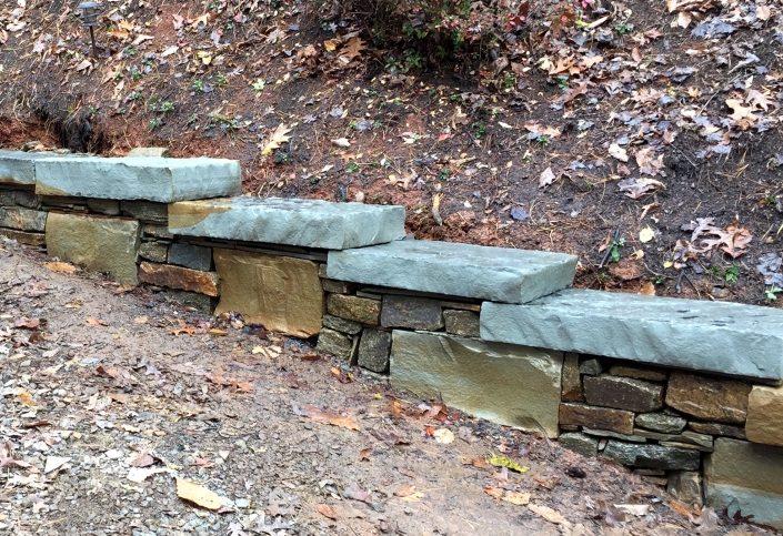 stone sitting wall