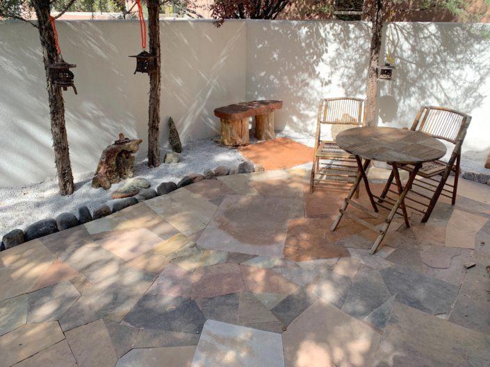 stone patio courtyard
